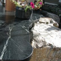 Brazilian Soapstone Counters and Tile - Kelowna