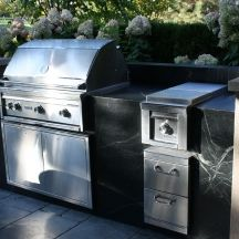Brazilian Soapstone Outdoor Kitchen - Kelowna